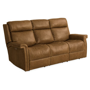 Brown Poise Power Recliner Sofa with Power Headrest