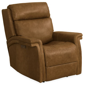 Brown Poise Power Recliner with Power Headrest