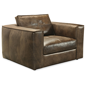 Solace Brown Leather Chair