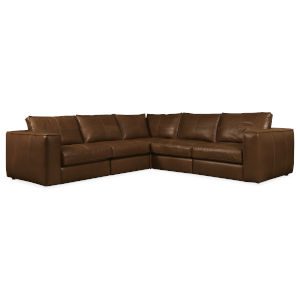 Brown 103-Inch Sectional Sofa