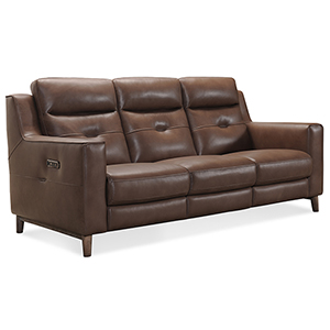 Lachlan Brown Power Leather Headrest Sofa