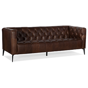 Nicolla Black Stationary Sofa