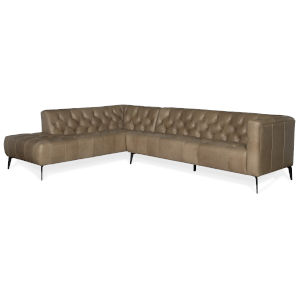 Brown 112-Inch Sectional Stationary Sofa