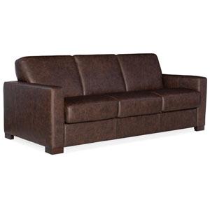 Brown Peralta Sofa with Sleeper and Memory Foam Mattress