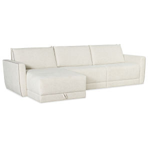 SS Beige 39-Inch Keane PWR Sleeper Loveseat with Left Arm and Right Arm Chaise