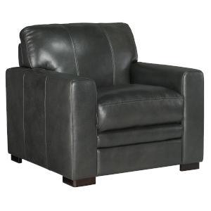 Larkin Dark Wood Stationary Chair