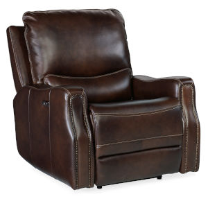Gage Brown Power Recliner with Power Headrest
