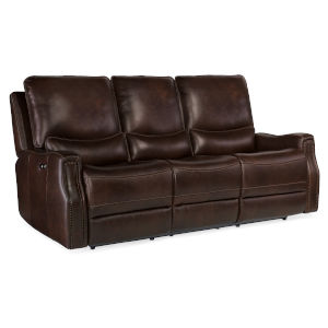 Gage Brown Power Recline Sofa with Power Headrest