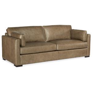 Romiah Dark Wood Stationary Sofa