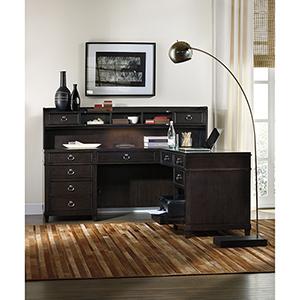Kendrick Dark Wood L-Shaped Desk