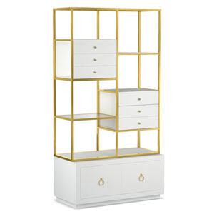 Swan Room Divider with File Storage