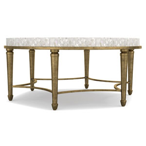 Aura Round Cocktail Table with Shell Top