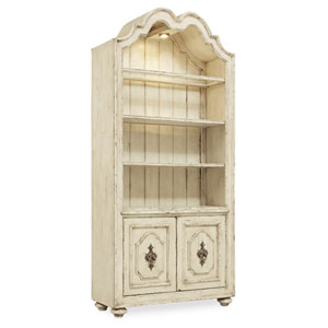 Auberose Beige Bunching Bookcase