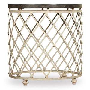 Auberose Gold Drum Table