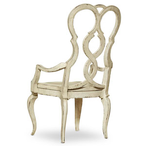 Auberose Biege Splatback Wood Seat Arm Chair