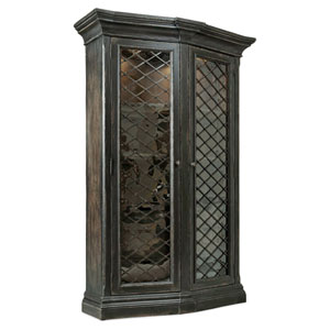 Auberose Black Display Cabinet