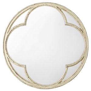 Auberose Beige Round Mirror