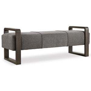 Curata Gray Upholstered Bench
