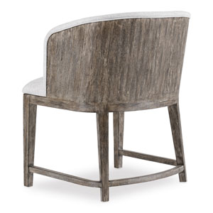 Curata Upholstered Chair with Wood Back