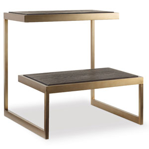 Curata Dark Wood and Gold End Table