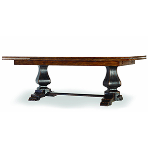 Sanctuary Refectory Table - Ebony and Drift