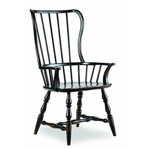 Sanctuary Spindle Arm Chair-Ebony