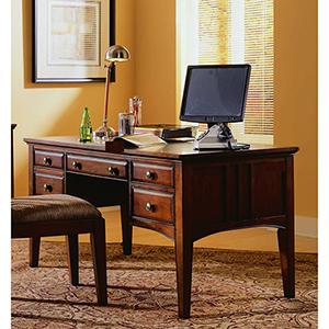 60-Inch Dark Wood Writing Desk