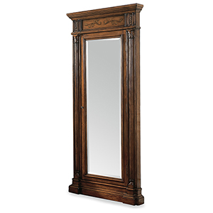Floor Mirror with Jewelry Armoire Storage