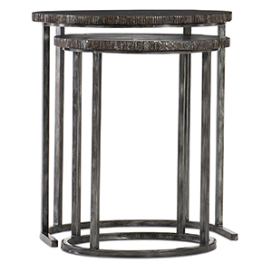 Black Nesting Tables in Wood and Metal