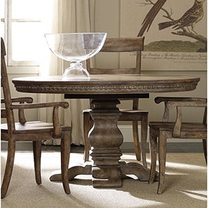 Sorella Pedestal Dining Table with1-20-Inch leaf