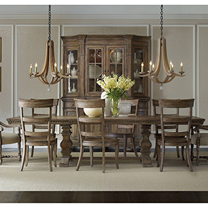 Sorella Rectangle Dining Table with2-18-Inch leaves