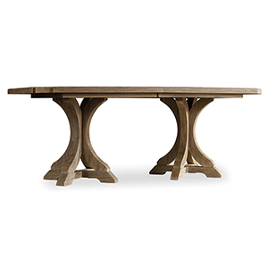Corsica Rectangle Pedestal Dining Table with Two 20-Inch Leaves