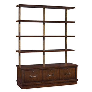 Palisade Dark Wood Bookcase