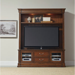 Clermont Two Piece Entertainment Group - Medium Wood Finish