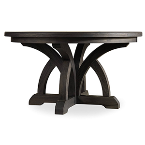 Corsica Dark Round Dining Table with One 18-Inch Leaf