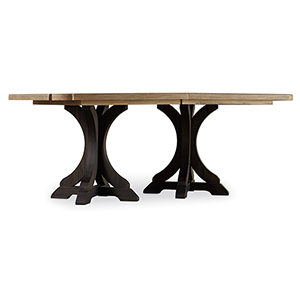 Corsica Dark Rectangle Pedestal Dining Table