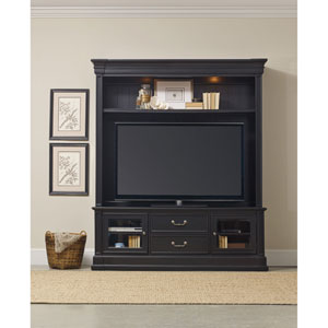Clermont Two Piece Entertainment Group - Black Finish
