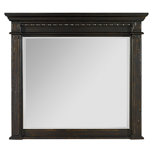 Treviso Black Mantle Landscape Mirror