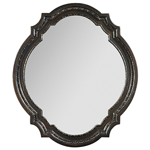 Treviso Black Accent Mirror