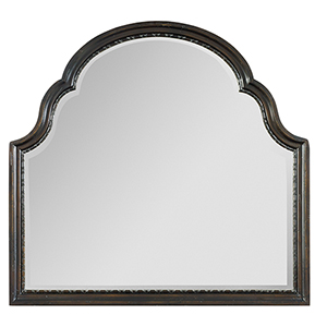 Treviso Black Shaped Landscape Mirror