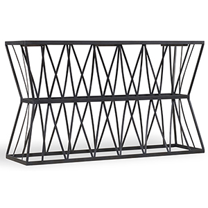 Black Acacia Console Table with Metal