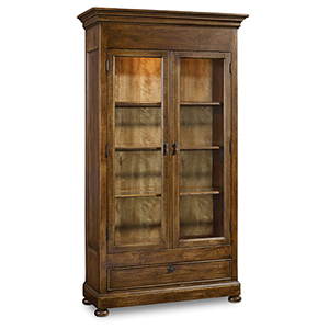 Archivist Dark Wood Display Cabinet