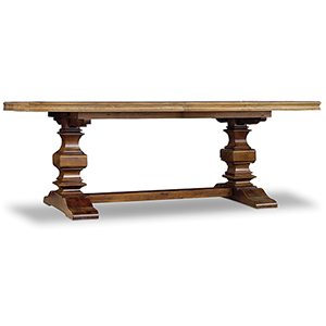 Archivist Trestle Table with 2- 18-Inch Leaves