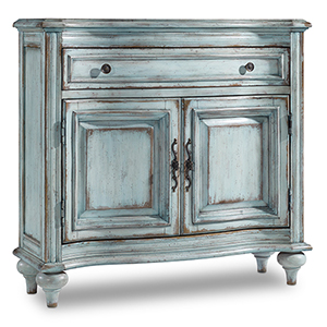 One-Drawer Blue Two-Door Chest