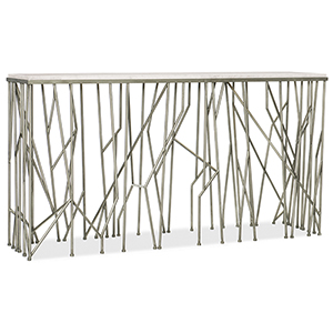 Thicket Marble and Iron Console