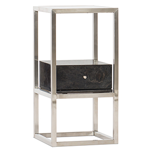 Dark Wood Accent End Table