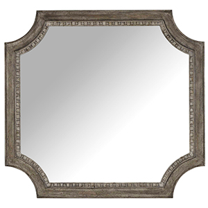 True Vintage Shaped Mirror in Light Wood