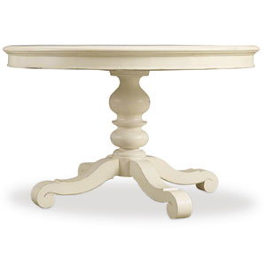 Sandcastle 48 Inch Round Dining Table with 2- 12 Inch Leaves in Cream