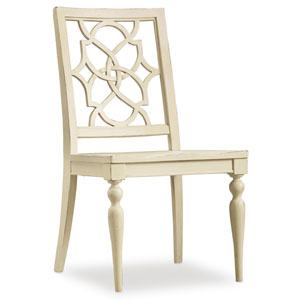 Sandcastle Fretback Side Chair - Wood Seat in Cream