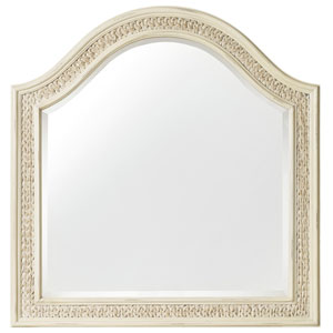 Sandcastle Mirror with Sea Grass in Cream